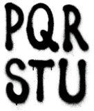 Graffiti spray paint font type (part 3) alphabet Stock Photo