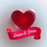 Grand coeur rouge Photos libres de droits