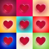 Grand coeur rouge réglé Image stock