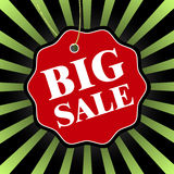 Grand insigne noir de vente de vendredi Illustration de vecteur Photo stock