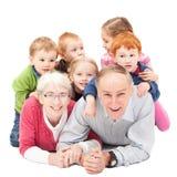 Grandparents with grandchildren Royalty Free Stock Photos