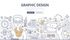 Graphic Design Doodle Concept Royalty Free Stock Photos