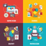 Graphic design icons flat Stock Images