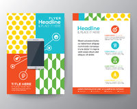 Graphic Design Layout with smart phone concept template Stock Photo