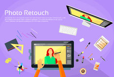 Graphic Designer Professional Tablet Drawing Royalty Free Stock Image