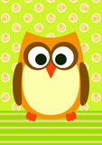 Graphic Owl Invitation Card Royalty Free Stock Photo