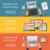 Graphic and Web design, programming, digital art, Stock Image