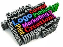 Graphics branding concept Royalty Free Stock Photos