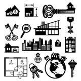 Graphismes d'immeubles réglés Photos libres de droits