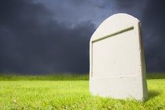 Graveyard at dark night Stock Photos