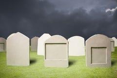 Graveyard at dark night Royalty Free Stock Image