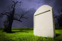 Graveyard at Halloween night Royalty Free Stock Photo