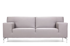 Gray leather sofa Stock Image