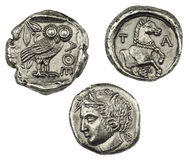Greek Coins Royalty Free Stock Photo