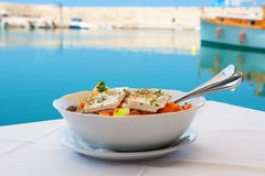 Greek salad. Crete Royalty Free Stock Photography
