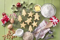 Green Christmas Cookies Baking Stock Image