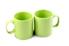 Green cups Royalty Free Stock Photo