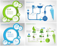 Green energy, ecology info graphics collection Stock Images