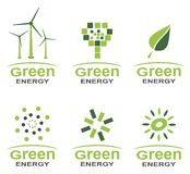Green energy logo set Stock Photo