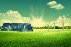 Green energy park Royalty Free Stock Image