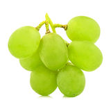 Green  grape  bunch  isolated on white background cutout Royalty Free Stock Image