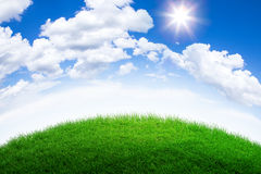 Green grass hill Royalty Free Stock Images