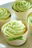 Green Icing Cupcakes Royalty Free Stock Image