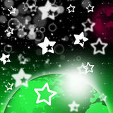 Green Planet Background Shows Stars And Celestial Bodies Royalty Free Stock Photos