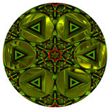 Green shiny orb or button Stock Photography