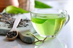 Green spa thee Stock Afbeeldingen