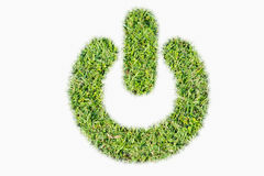 Green turf logo power switch on off Royalty Free Stock Photo