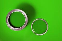 Green Varnish Can 2 Royalty Free Stock Photo