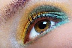 Green-yellow makeup Stock Photo