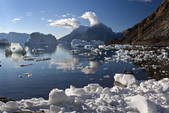 Greenland - Northwest Fjord Royalty Free Stock Photography