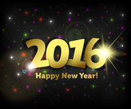 Greeting card 2016 Happy New Year Stock Images
