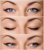Grey eyes Stock Photo