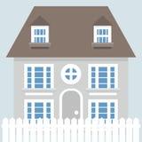 Grey vector house icon Stock Photos