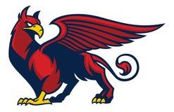 Griffin creature mascot Stock Image