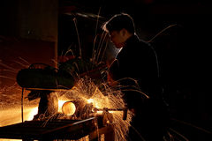 Grinding sparks Royalty Free Stock Photo