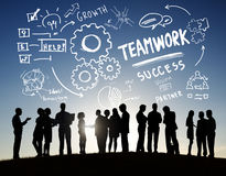 Groepswerk Team Together Collaboration Business Communication Outd Stock Foto