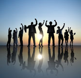 Group of Business People Celebrating Success Concept Stock Photos