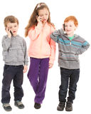 Group of children talking on mobile phones. Royalty Free Stock Image