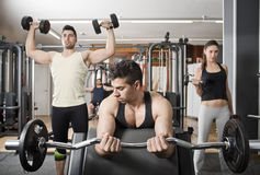 Group at gym Royalty Free Stock Photos