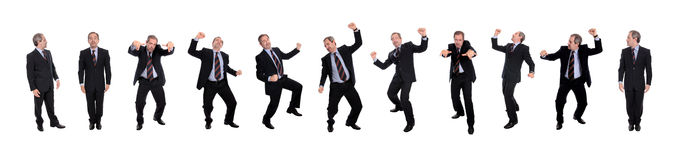 Group of happy business men Stock Photo
