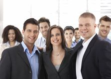 Group of happy successful business people smiling Royalty Free Stock Photo