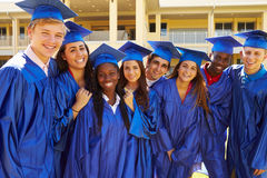 Group Of High School Students Celebrating Graduati Royalty Free Stock Images
