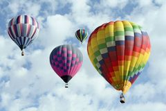 Group of Hot Air Balloons Royalty Free Stock Image