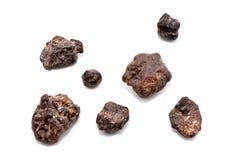 Group of meteorites Royalty Free Stock Photos