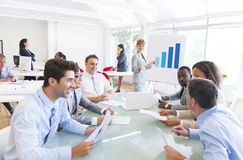 Group of Multiethnic Corporate People having a Business Meeting Royalty Free Stock Images