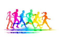 Group Of Runners Stock Photos